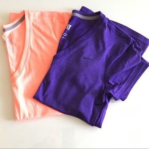 Nike Dri-Fit V-Neck Short Sleeve Tops (pair of 2)